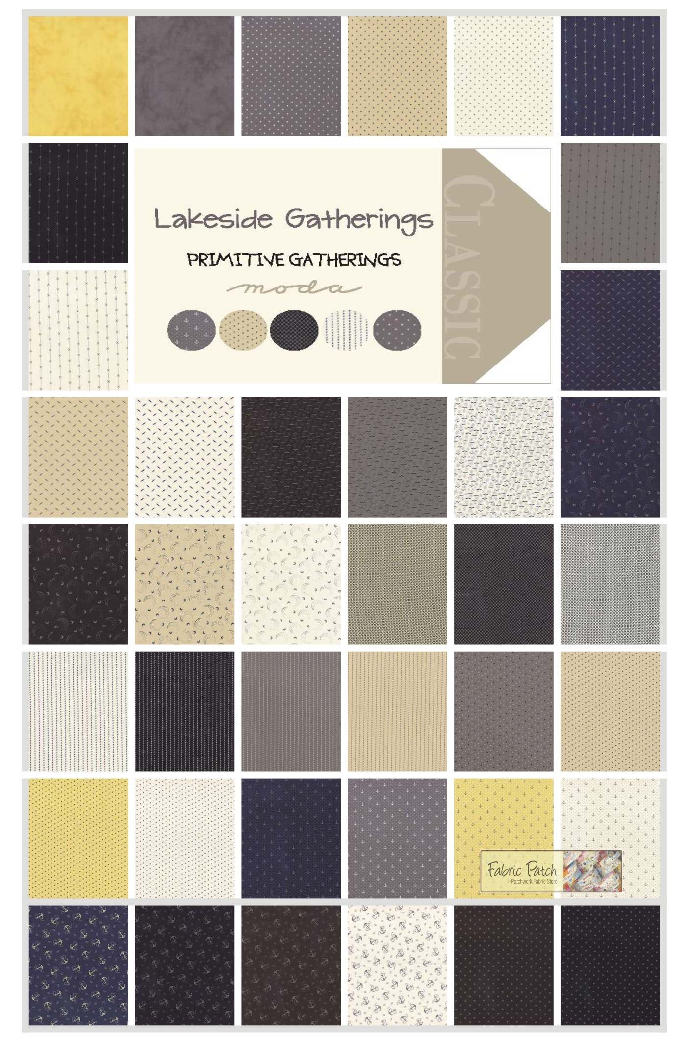 Lakeside Gatherings Layer Cakes by Primitive Gatherings for Moda ... : primitive quilt fabric - Adamdwight.com