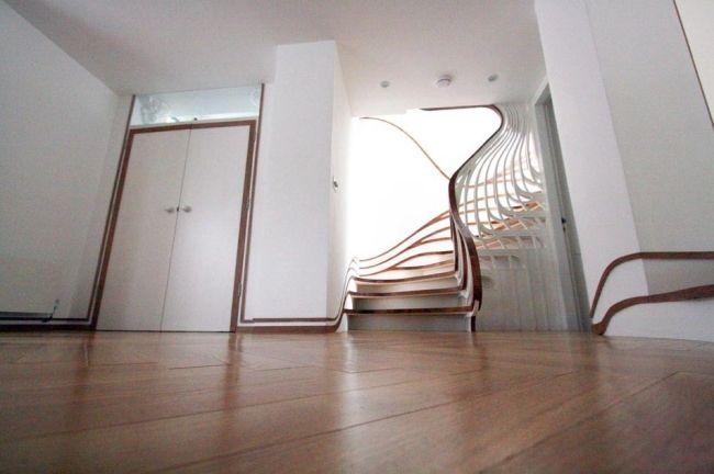 """holz treppe design atmos studio, erstaunliche """"fließende"""" holz treppe – design von atmos studio, Design ideen"""