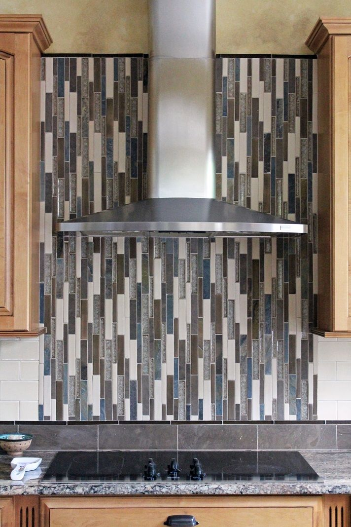 Kitchen Backsplash Neutral kitchen backsplash design. neutral mosaic accent wall with beige