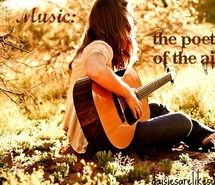 Inspiring picture beautiful, bright, brown, girl, guitar. Resolution: 500x333 px. Find the picture to your taste!