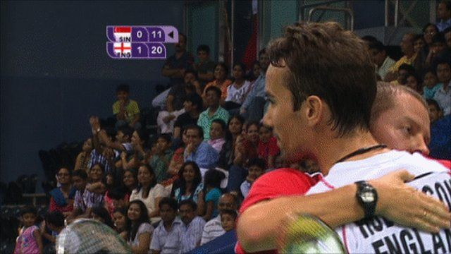 England Claim Bronze In The Team Badminton Thanks To Olympic Silver Medallist Nathan Robertson Who Partners Jenny Wallwo Commonwealth Games Badminton Bbc Sport