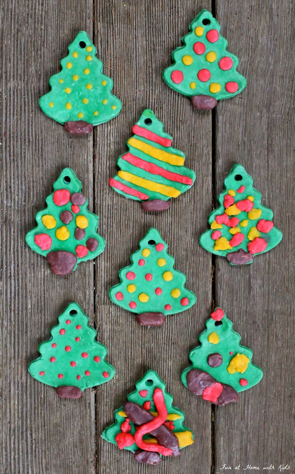 Diy Bread Clay Recipe For No Bake Ornaments Clay Ornaments Christmas Tree Template Christmas Crafts For Kids