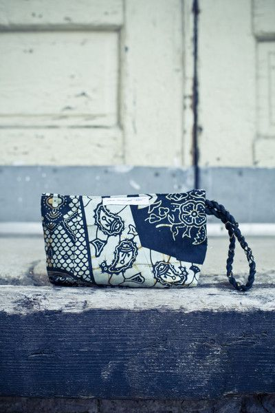 Stunning Pleated Wristlet from ethical brand One Mango Tree
