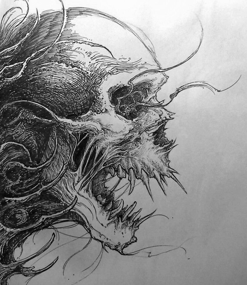 Evil Skull drawing | Drawing ideas | Pinterest | Tattoo ...