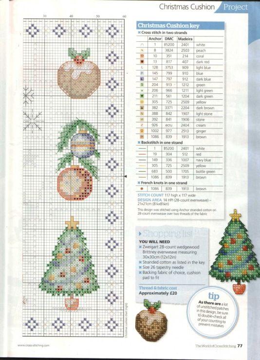 Gallery.ru / Фото #50 - The world of cross stitching 183+приложение Christmas cards - tymannost