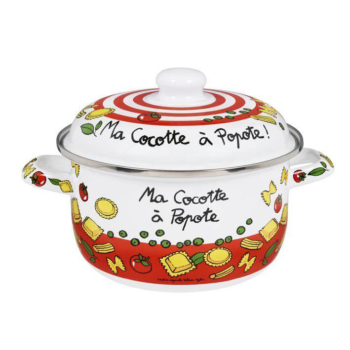 Marmite Fetou Ma Cocotte Rouge Blanc Derri Re La Porte