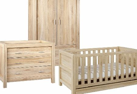 Tutti Bambini Milan 3 Piece Room Set Cot Chest Wardrobe Reclaimed Oak Finish From Our Range At Tesco Direct