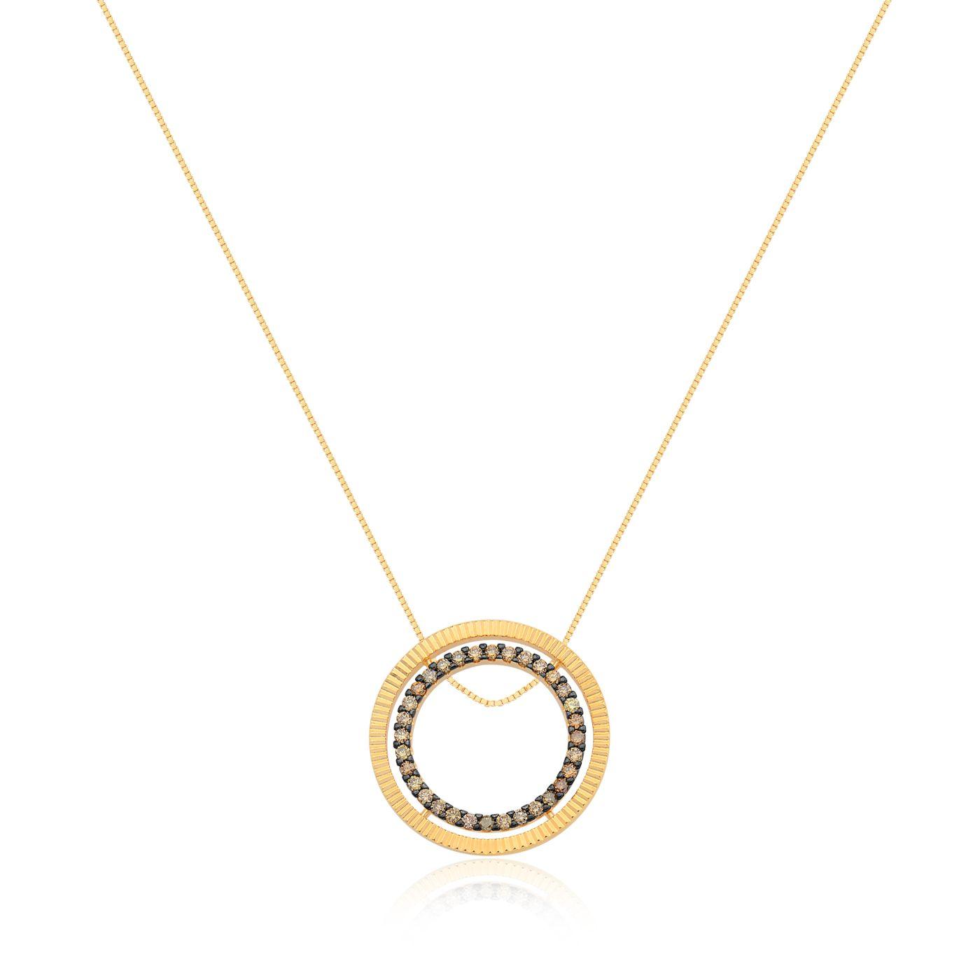 5ece5e74a5897 Pingente Ouro Amarelo e Diamante - Coleção Simetria   Acessórios ...