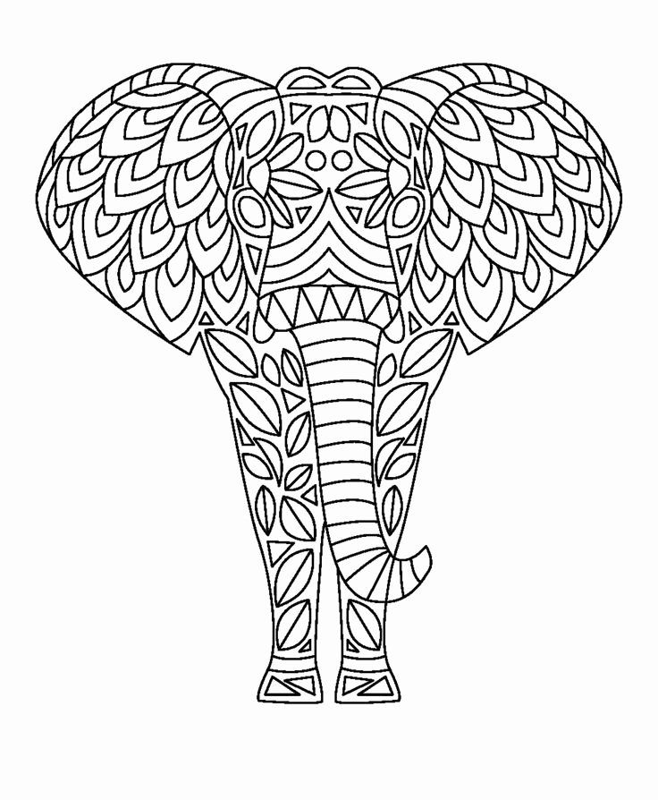Coloring Pages for Adults Elephant in 2020 Elephant