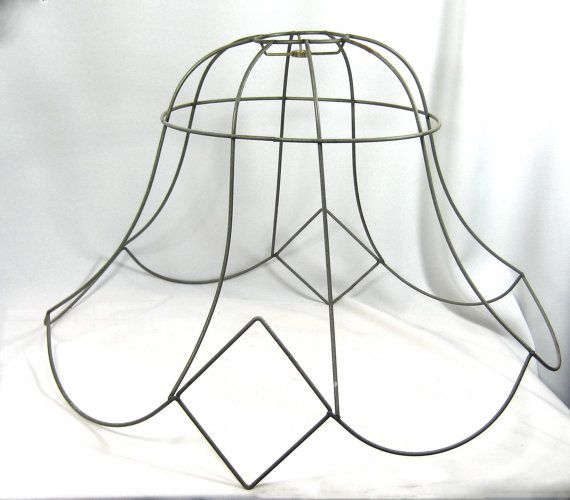 Lamp shade frame huge wire floor victorian custom hand made in nyc lamp shade frame huge wire floor victorian custom hand made in nyc keyboard keysfo Gallery