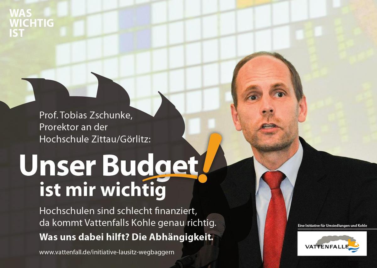 Knappe Budgets, Hochschule, Tagebau, CO2, Braunkohle, Energiewende, Vattenfall, WasWichtigIst