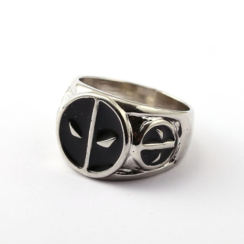 Deadpool ring movie anime silver men women rings cosplay male jewelry friendship gift ys11672