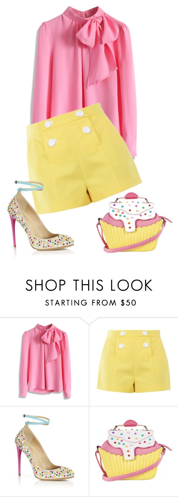 """""""Untitled #2076"""" by aimee-lowenstern ❤ liked on Polyvore featuring Chicwish, Boutique Moschino, Aquazzura and Iron Fist"""