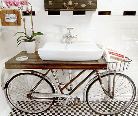 image result for diy sink stand bathroom bike - Diy Toilettenpapierhalter Stand