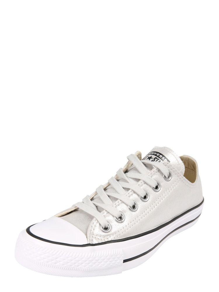 Converse Sneaker Chuck Taylor All Star Ox Damen Silber Weiss Grosse 40 40 5 Converse Sneaker Chuck Taylors Turnschuhe
