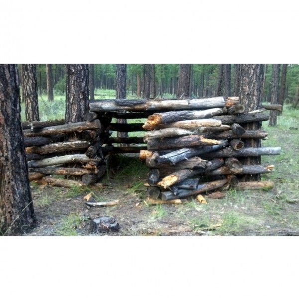 DIY Log Fort / Clubhouse In The Woods (With Images)