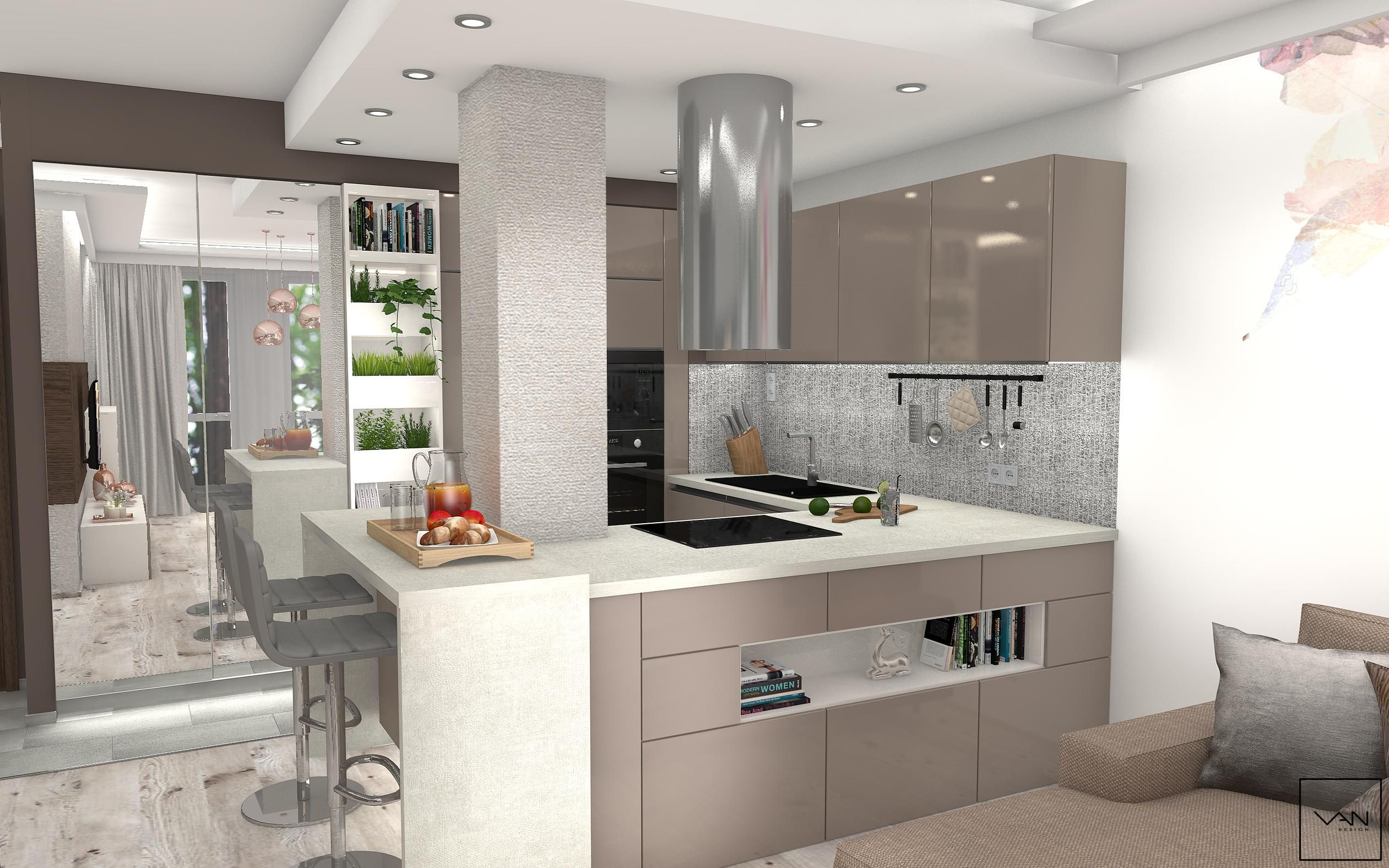 Ötletes sarokkonyha kis lakásba - konyha / étkező ötletek, modern ...