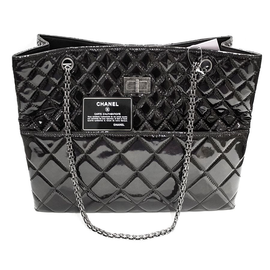 Chanel Patent Quilted Reissue 2.55 Tote Purses, bags