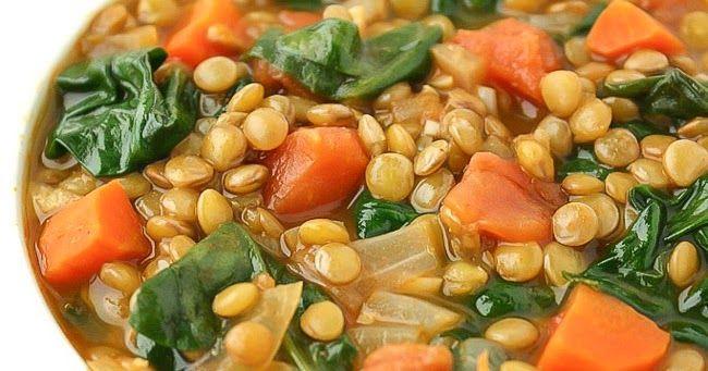 Lentil Spinach Soup (Easy & Vegan!)   The Garden Grazer #spinachsoup