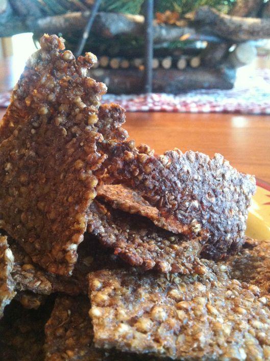 Buckwheat Garlic Crackers & Cinnamon Millet Crisps - candida