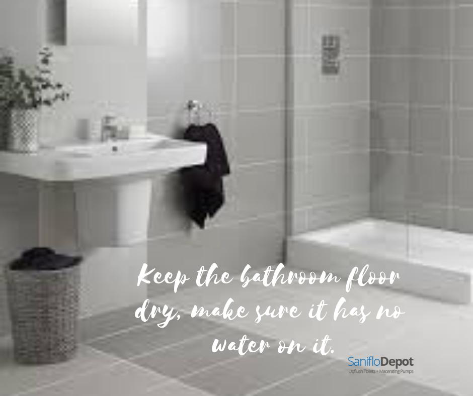 Keep Bathroom Floor Dry Bathroom Flooring Bathroom Flooring
