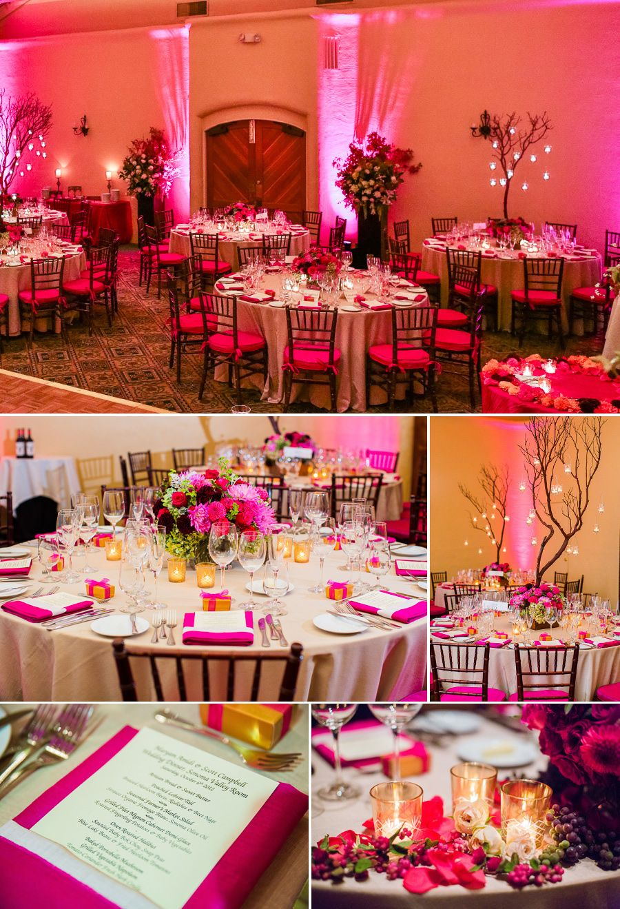 What A Colourful Wedding Reception At Fairmont Sonoma Mission Inn