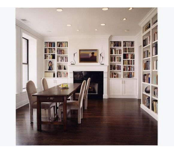 Love The Simple Combination Of The Dining Room/library