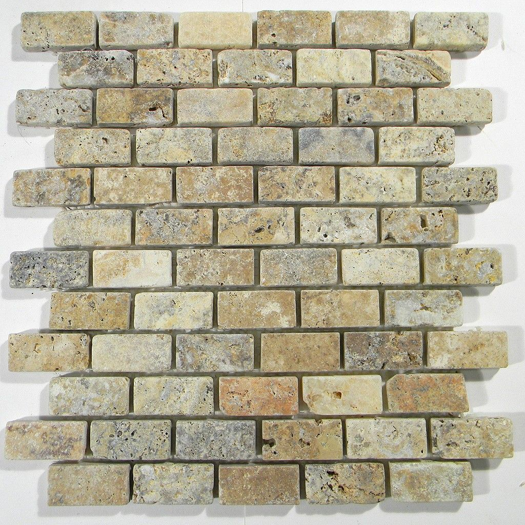 Tuscany Scabas 1 x 2 Tumbled Brick Pattern