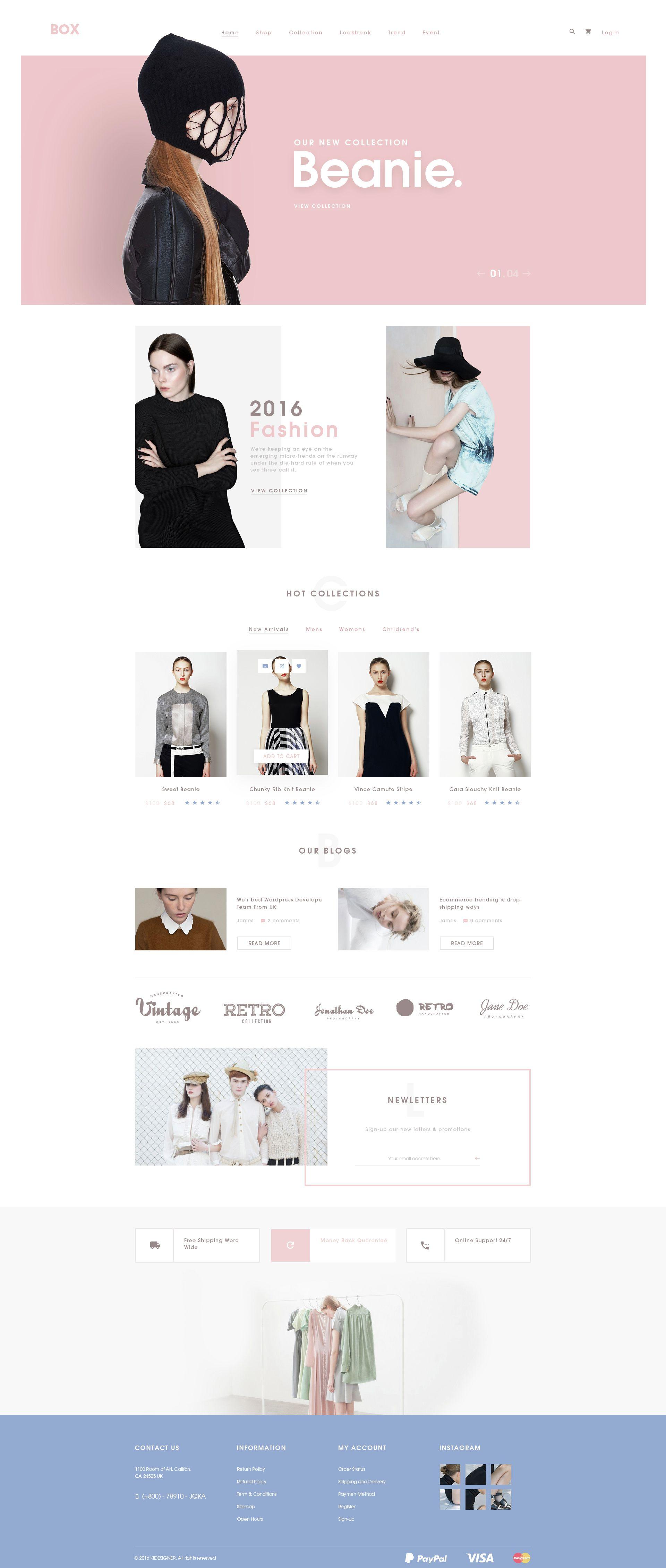 BOX Elegant Ecommerce PSD Templates Pinterest Psd Templates - Ecommerce site templates