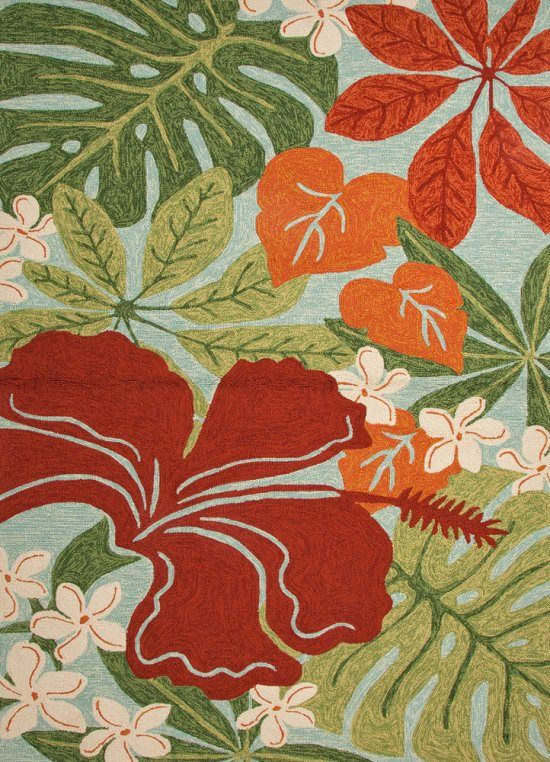 Rug For The Lanai Coastal Living Collection Ci20 Luau Fl Hawaiian Polypropylene Jaipur