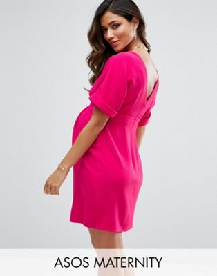 b19131ba00f ASOS Maternity Smart Mini Dress with V Back