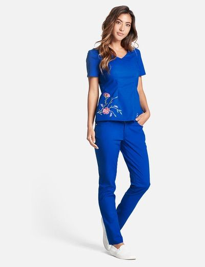 The Embroidered Top - Royal Blue. Scrub TopsEmbroidered ...