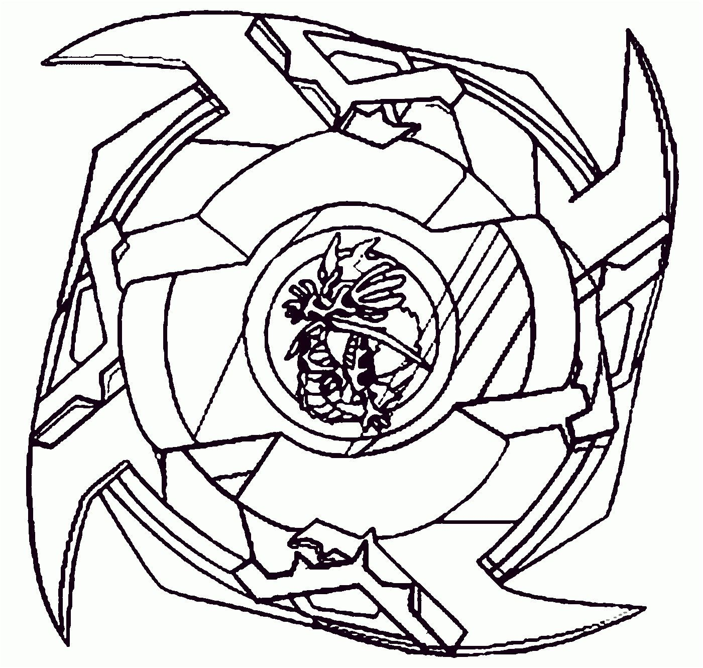 Coloriage Toupie Beyblade