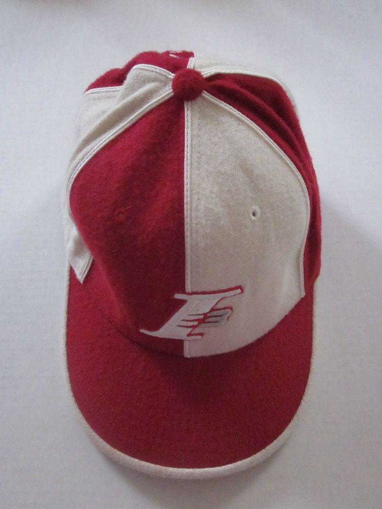 33ed31353b1 REEBOK I3 ALLEN IVERSON Red White Wool Blend Baseball Cap Hat Sz 7 5 8  RARE    Reebok