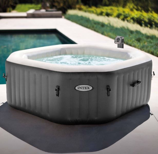 Jacuzzi Spa Hot Tub Portable Heated Bath Bubble Jets 4 Person Water Massage Pool Jacuzzihotspausa Intex Hot Tub Portable Hot Tub Inflatable Hot Tubs