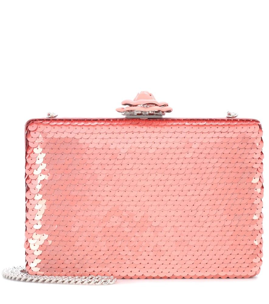 Oscar de la Renta - Rogan sequinned box clutch - Pay attention to finishing  touches cf97307b43db
