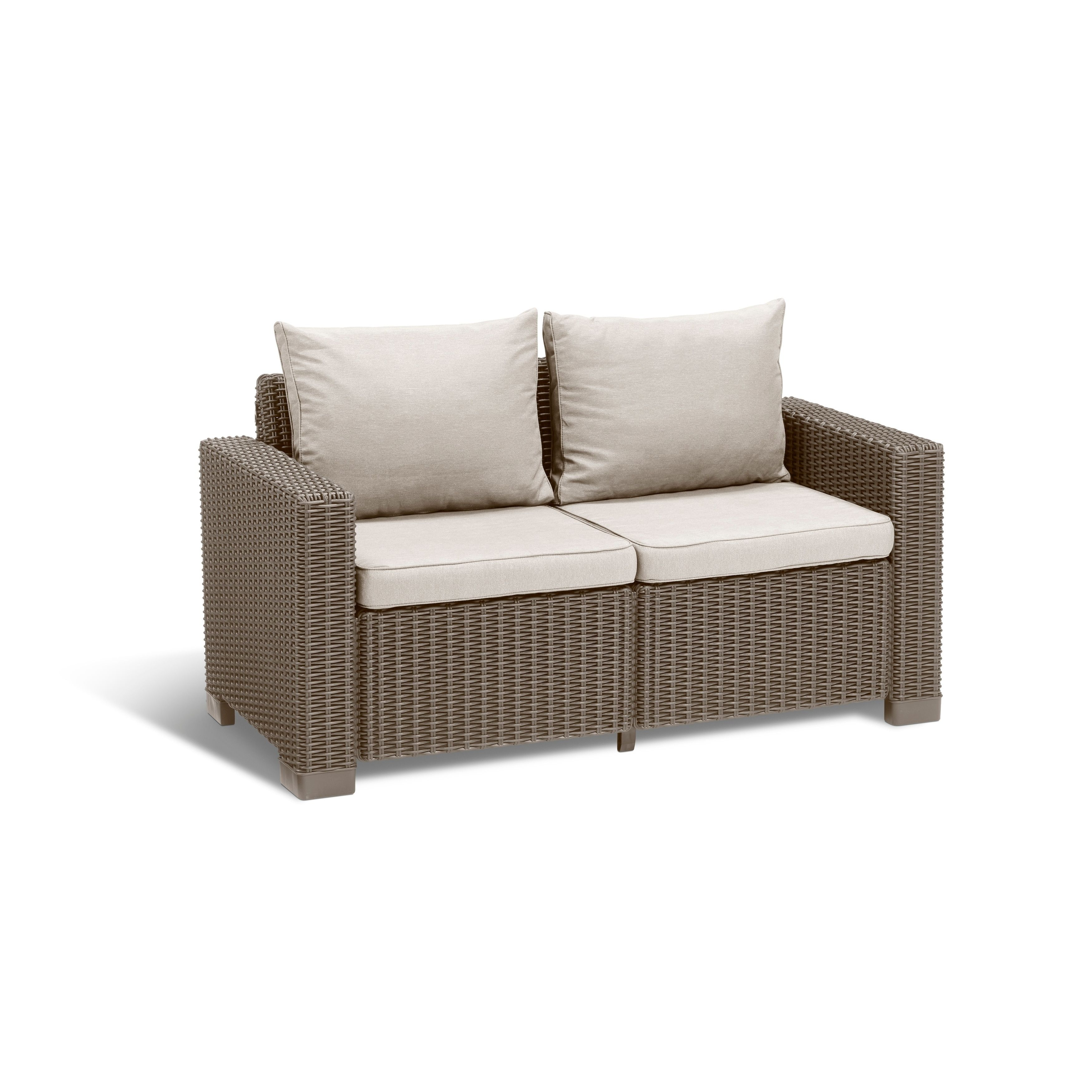keter clay alder home amelia all weather outdoor patio loveseat with rh pinterest com