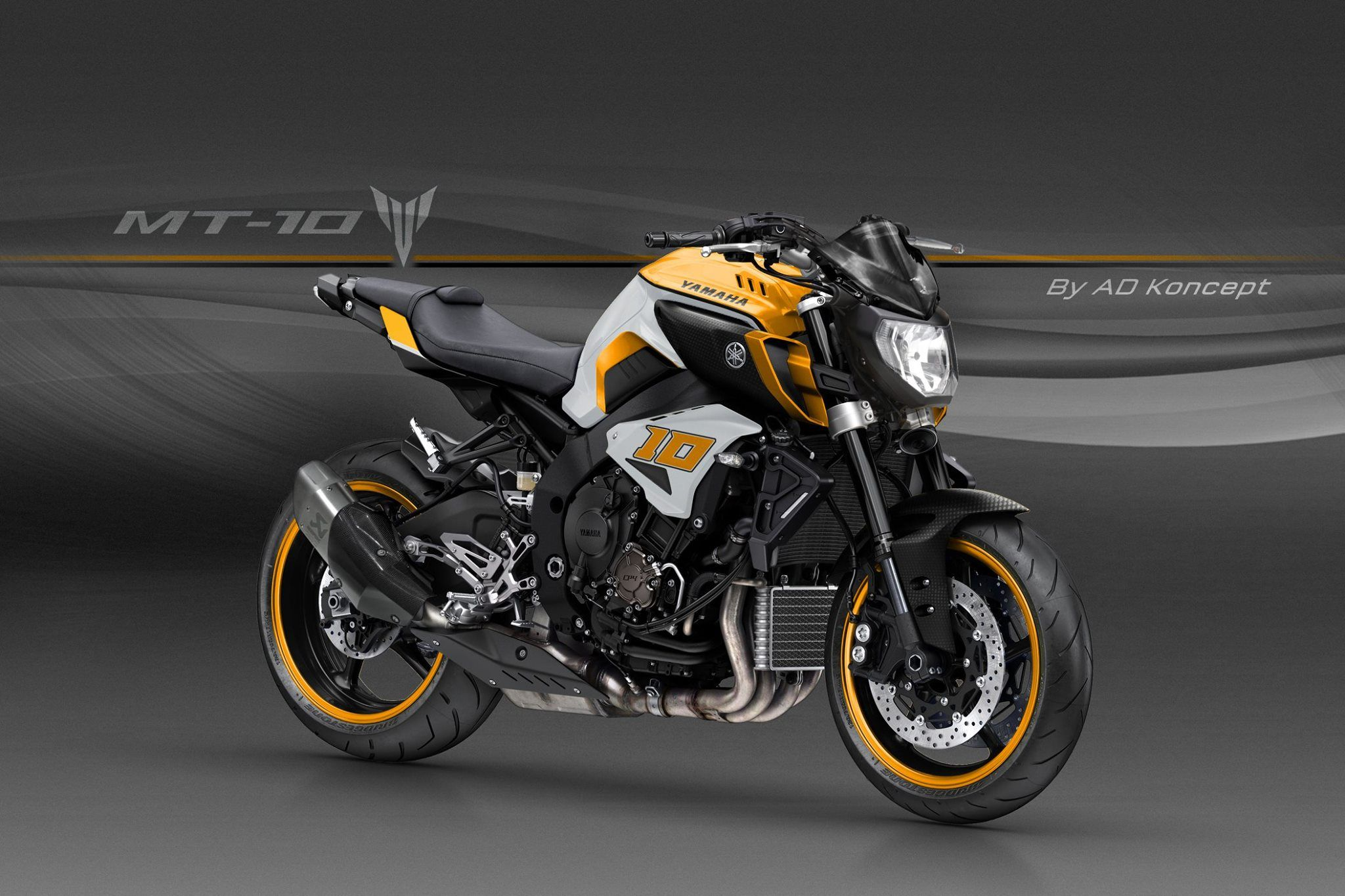 Yamaha mt 10 in valentino rossi livery and more from ad koncept 11