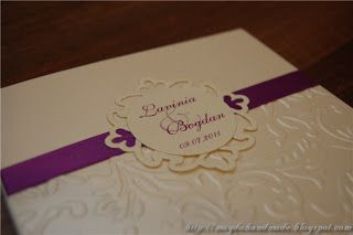 Lavinia Wedding Invitation.