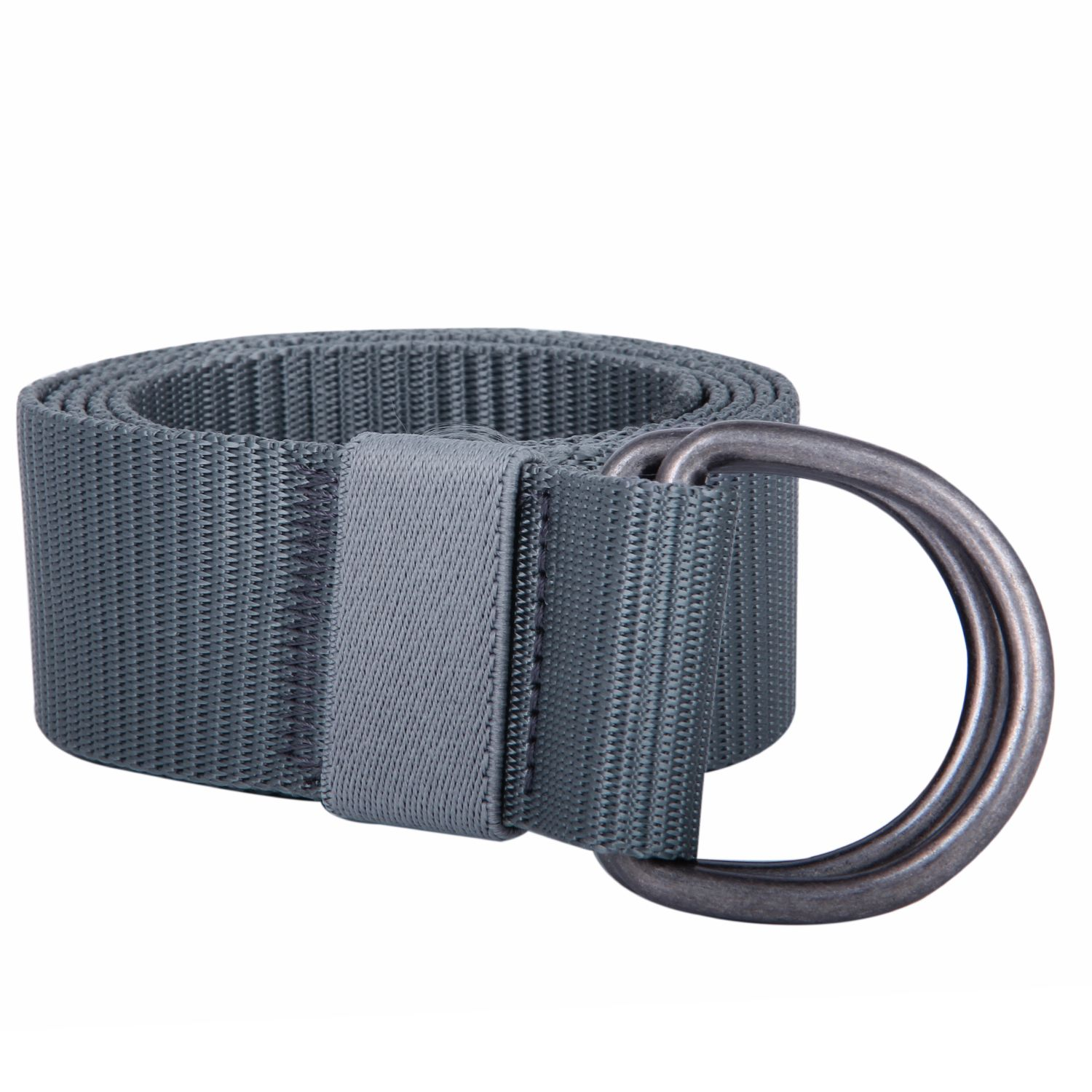 Jiniu Canvas Web Belts For Men Women Military Style Double D Ring