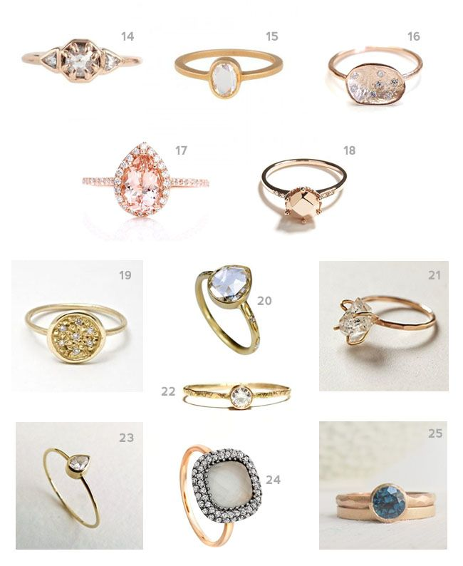 engagement ring rings vintage and band diamond products style stacked rose gold white different mullen