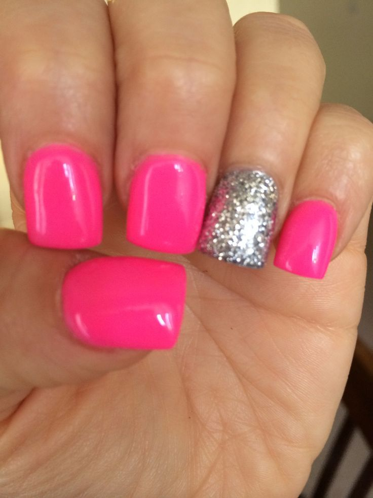 nice Neon pink nails... | Nail Designs for fake Nails | Pinterest ...
