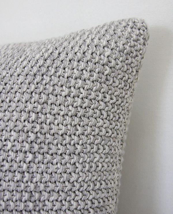 Marled Light Grey Cushion