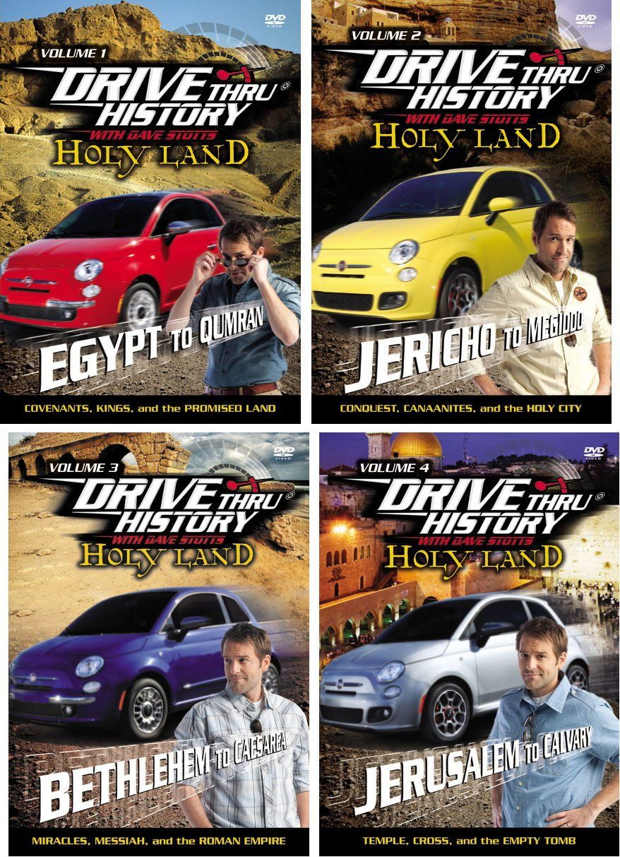 Amazon.com: Drive Thru History Holy Land Series with Dave Stotts Set of 4 Volume 1-4 Episodes 1-12: Movies & TV