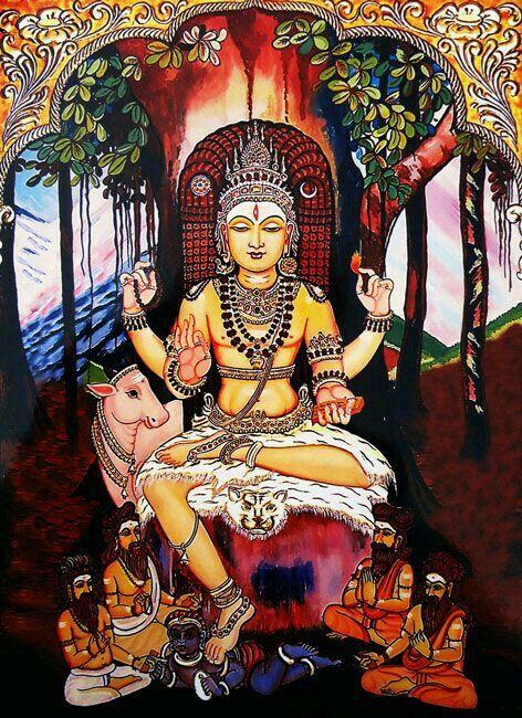 Sri Dakshinamurthy Golden Gods Shiva Lord Shiva Hindu Deities