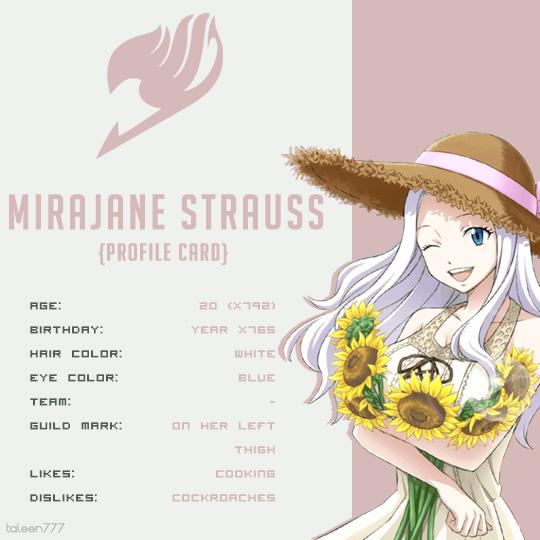 Mirajane Strauss Profile Card Fairy Tail Fairy Tail Anime Fairy The u/mirajane_strauss community on reddit. mirajane strauss profile card fairy