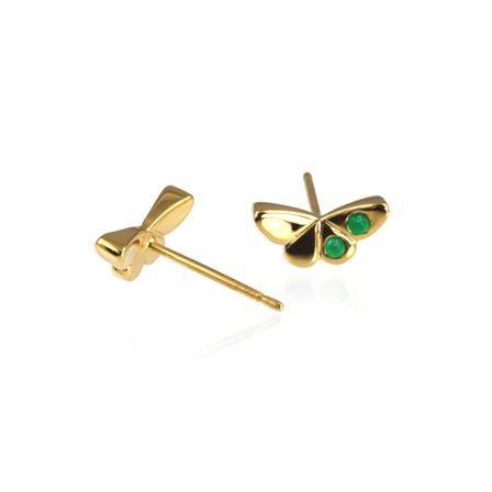 Jana Reinhardt Gold Plated Butterfly Ear Studs