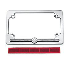 diamond ice license plate frame