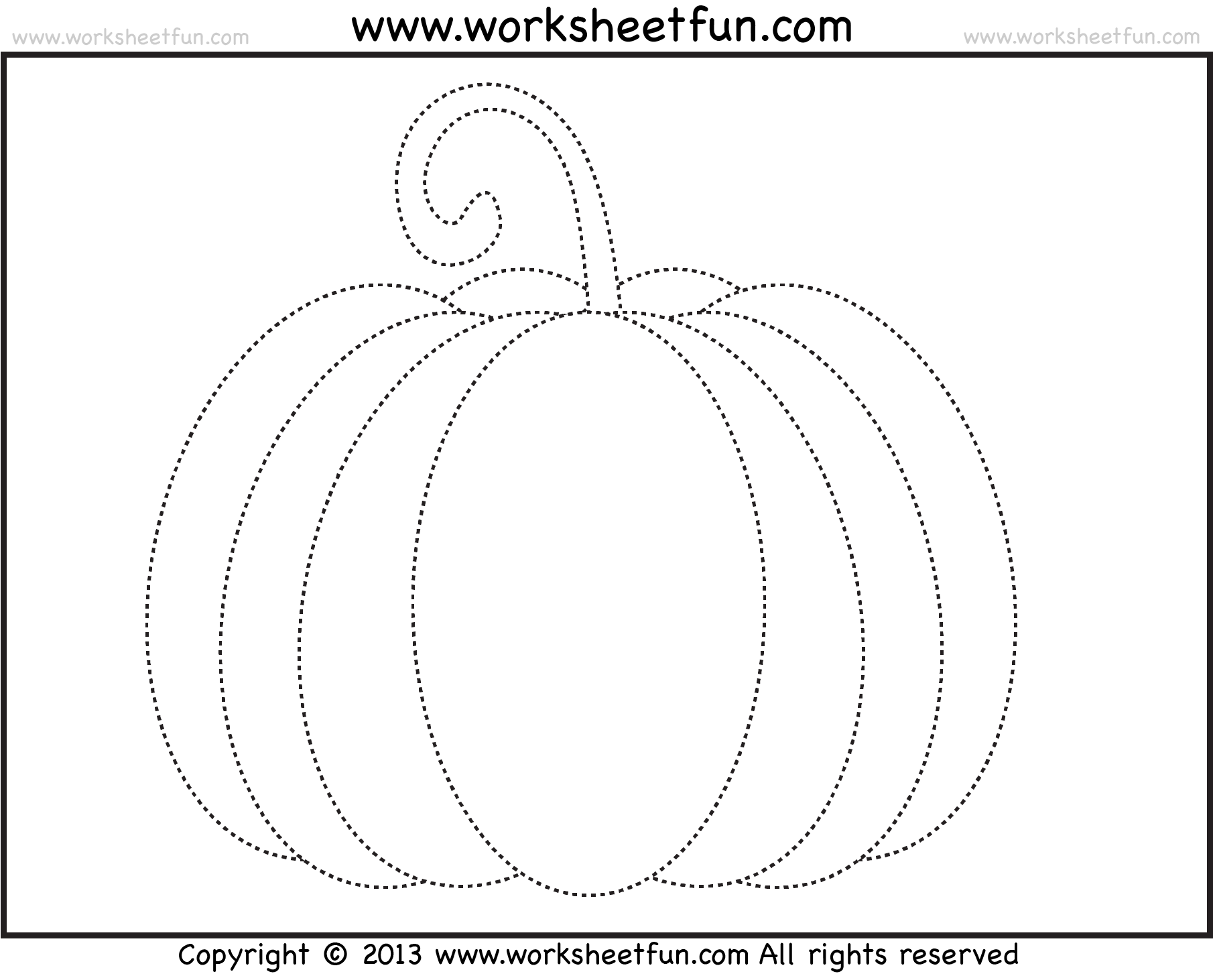 Halloween Pumpkin Worksheet For Preschool
