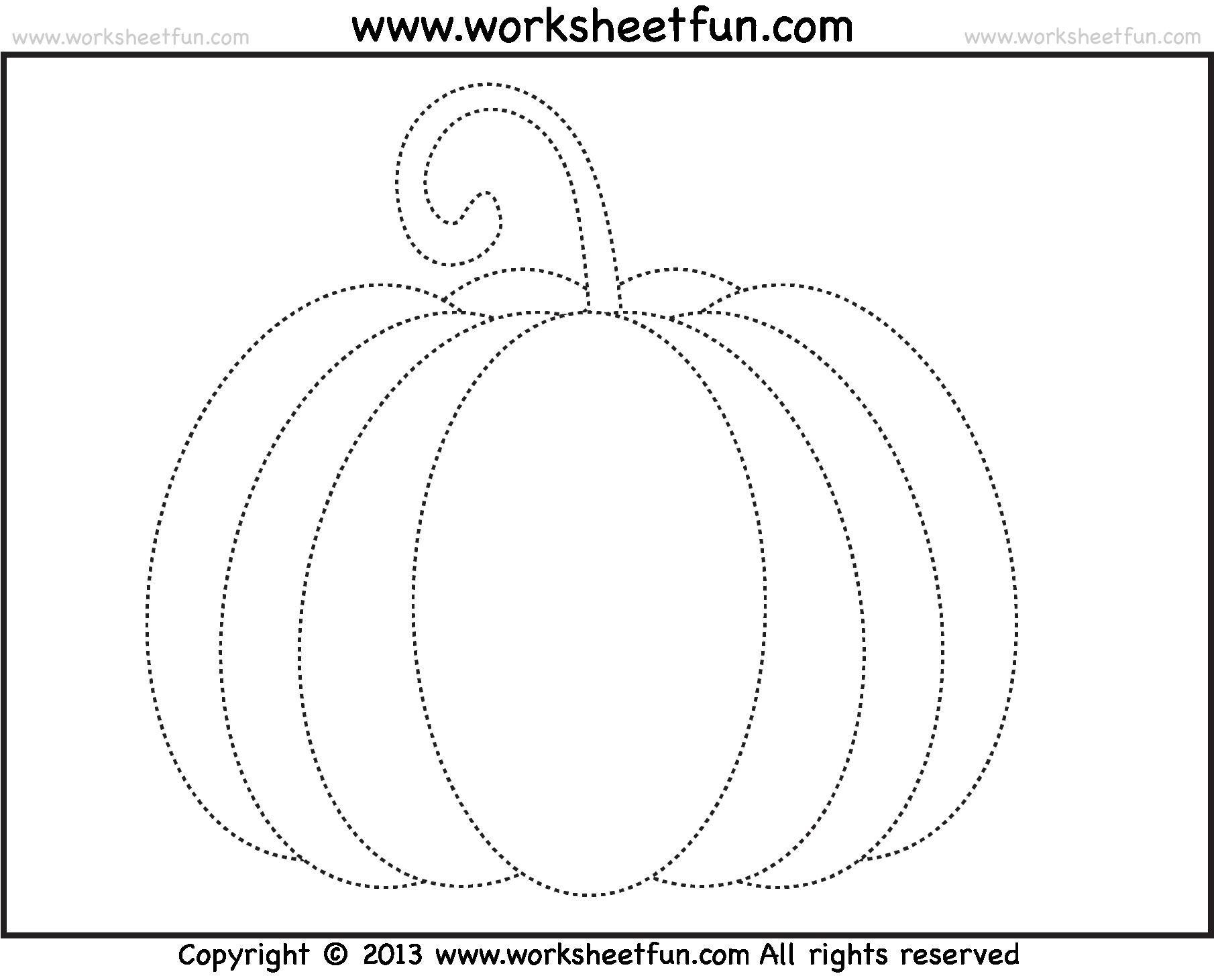 Pumpkin Tracing Worksheet